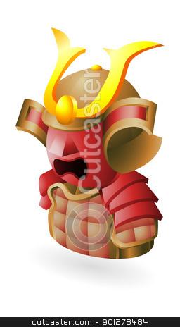 samurai icon stock vector clipart, Illustration of a samurai by Christos Georghiou