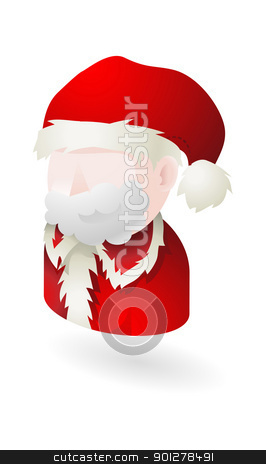 santa illustration stock vector clipart, Illustration of Santa Claus by Christos Georghiou