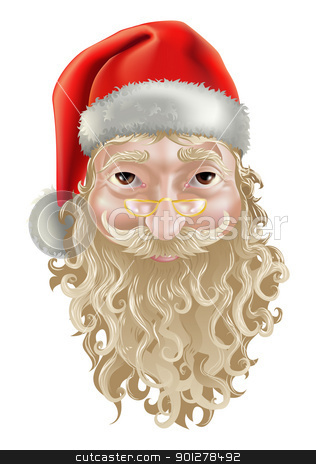 santa  stock vector clipart, a photo realistic illustration of santa clause by Christos Georghiou