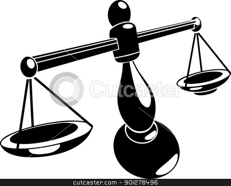 scales illustration stock vector clipart, Monochrome vector illustration of stylised scales  by Christos Georghiou