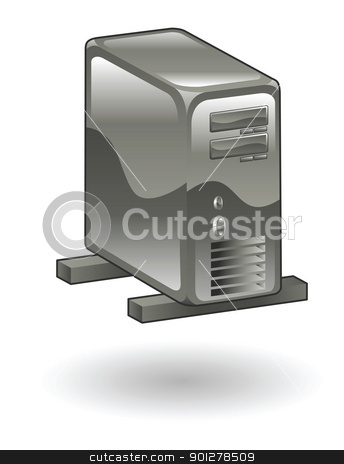 server Illustration stock vector clipart, Illustration of a computer server by Christos Georghiou