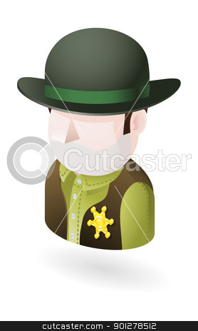 sheriff illustration stock vector clipart, Illustration of a sheriff by Christos Georghiou