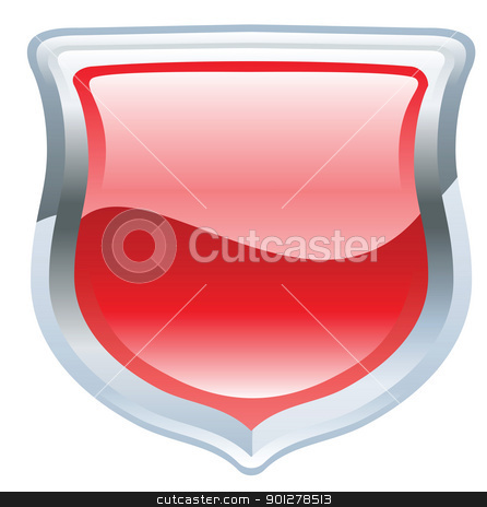 shield illustration stock vector clipart, Illustration of a red shield by Christos Georghiou