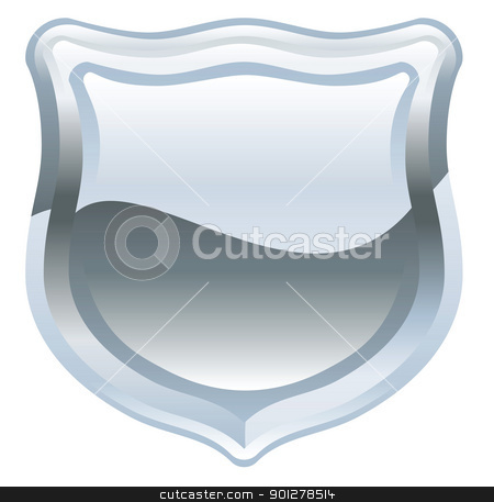 shield illustration stock vector clipart, Illustration of a silver shield by Christos Georghiou