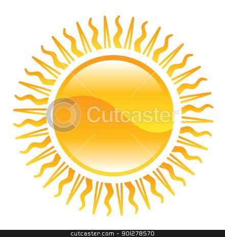 shiny sun illustration stock vector clipart, Illustration of shining sun by Christos Georghiou