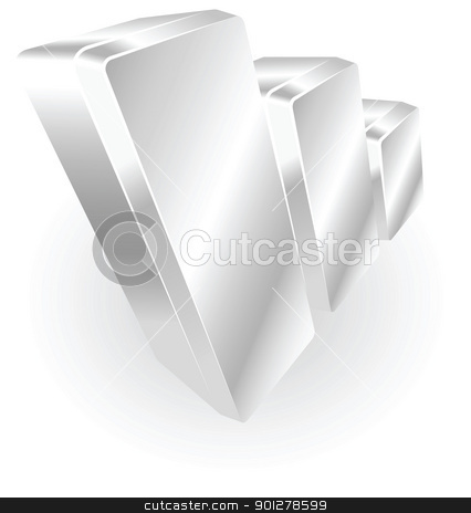 silver metallic graph stock vector clipart, Illustration of a silver metallic graph by Christos Georghiou