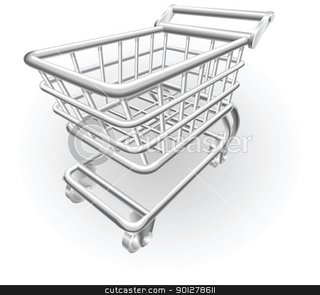 silver metallic trolley stock vector clipart, Illustration of a silver metallic trolley by Christos Georghiou
