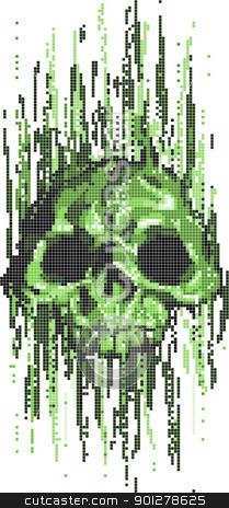 computer virus skull concept stock vector clipart, computer virus skull concept vector illustration  by Christos Georghiou