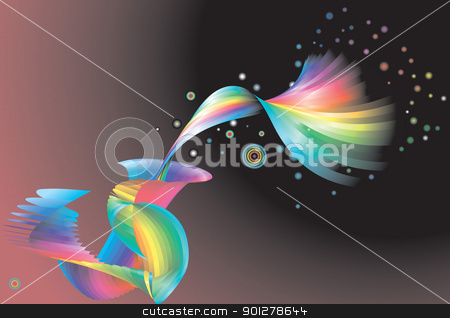 Abstract rainbow background  stock vector clipart,  An abstract rainbow background  by Christos Georghiou
