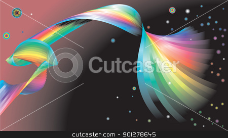 Abstract rainbow background stock vector clipart, An illustration of an abstract rainbow background      by Christos Georghiou
