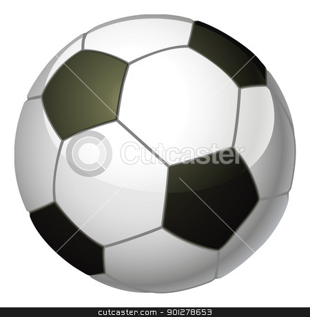 Soccer ball illustration stock vector clipart, An illustration of a traditional black and white soccer foot ball by Christos Georghiou