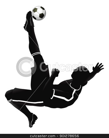 Soccer football player illustration stock vector clipart, Very high quality detailed soccer football player illustration. by Christos Georghiou
