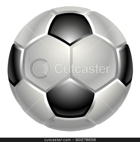 football or soccer ball icon stock vector clipart, A shiny glossy football or soccer ball icon by Christos Georghiou
