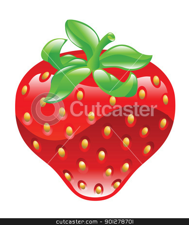 srawberry illustration stock vector clipart, Illustration of a strawberry by Christos Georghiou