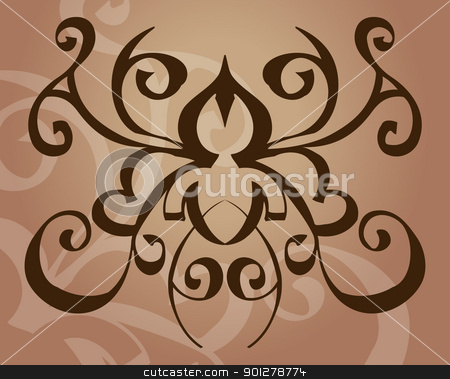 tattoo stock vector clipart, A tattoo like vector element/ background.  by Christos Georghiou