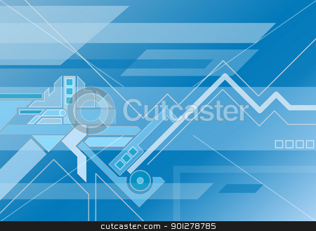 abstract techno background stock vector clipart, Technological background  by Christos Georghiou