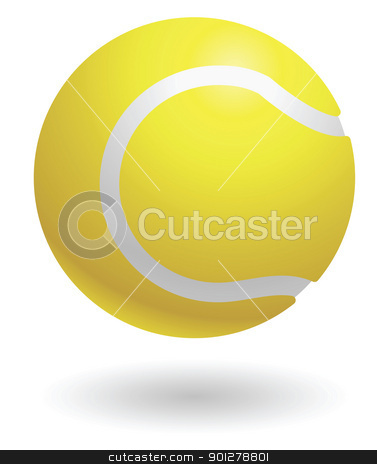 tennisball Illustration stock vector clipart, Illustration of a tennis ball by Christos Georghiou