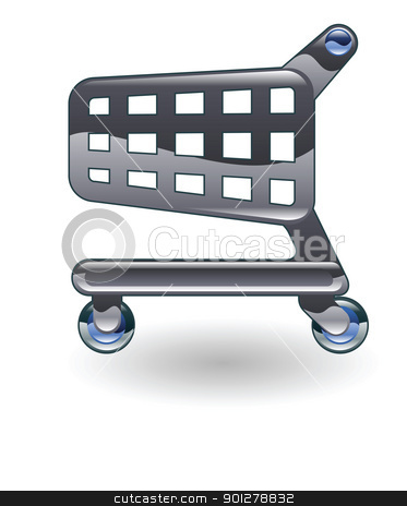 trolley cart illustration stock vector clipart, Illustration of a trolley cart by Christos Georghiou