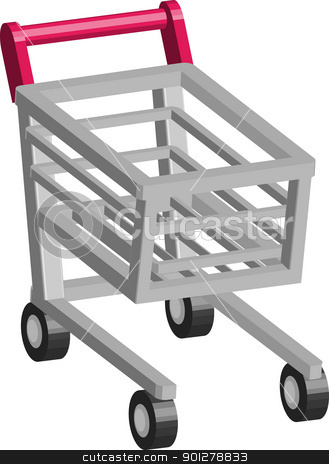 Retail Cart Illustration stock vector clipart, An illustration of Shopping cart trolley  by Christos Georghiou