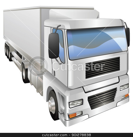Illustration of haulage truck stock vector clipart, An illustration of a haulage truck or lorry by Christos Georghiou