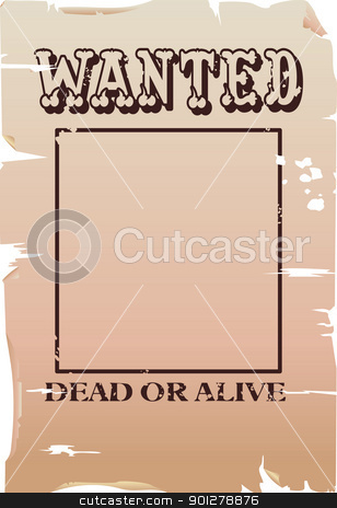wanted poster Illustration stock vector clipart, a vector wanted poster, type created for the poster.  by Christos Georghiou