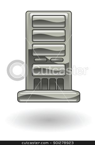 webserver Illustration stock vector clipart, Illustration of a web server by Christos Georghiou