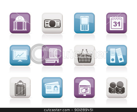 Business and finance icons stock vector clipart, Business and finance icons - vector icon set by Stoyan Haytov