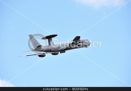 A French AWACS stock photo, A french AWACS, blue sky background by Dutourdumonde