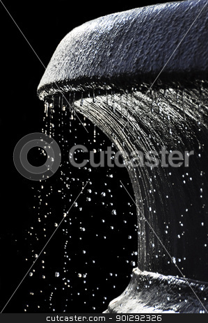 A fountain stock photo, A fountain isolated on a black background by Dutourdumonde