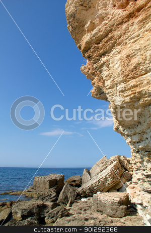 Rocky cliffs, the Black Sea coast stock photo, Rocky cliffs, the Black Sea coast by kostiuchenko