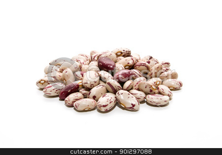 Jewish ecological stock photo, newly harvested beans on white background by luiscar