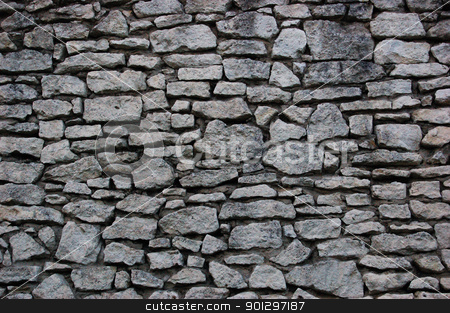 old stone wall stock photo, Stone wall of an old castle by johnnychaos
