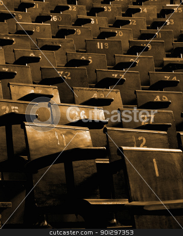 Lecture Hall Seating stock photo, Lecture hall seating at a university by Tyler Olson