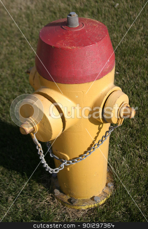 Yellow Fire Hydrant stock photo, A yellow saskatoon fire hydrant. by Tyler Olson