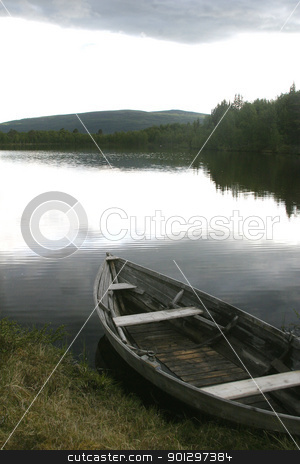Fishing Boat stock photo, 100 year old fishing boat on a northern lake nearroros rros, tolga; by Tyler Olson