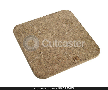 Cork Hot Pad stock photo, A cork hot pad isolated on white by Tyler Olson