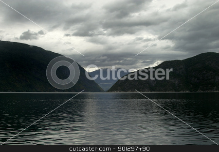Western Norway Fjord stock photo, A fjord in western norway by Tyler Olson