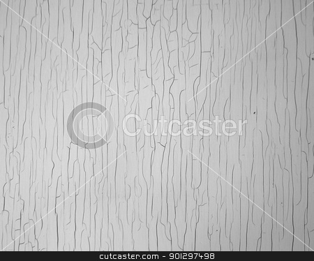 Cracked Paint Texture stock photo, A background image of white cracked paint texture. by Tyler Olson