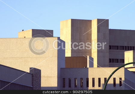 Concrete Jungle stock photo, A mesh of concrete bulidings at the University of Saskatchewan, Canada by Tyler Olson