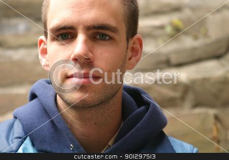 Male Portrait stock photo, Standard male portrait by Tyler Olson