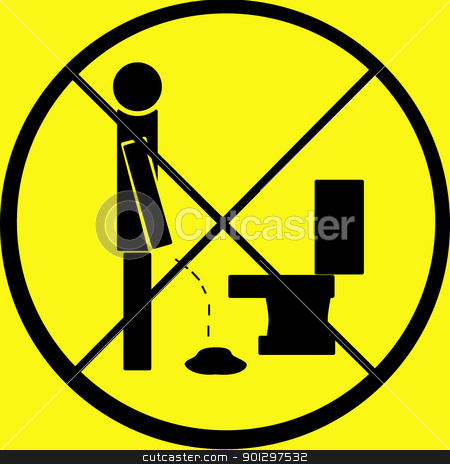 Do Not Pee on Floor stock photo, A warning sign - do not pee on the floor by Tyler Olson