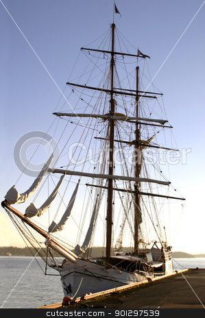 Square Mast Ship stock photo, Tall ship in the Oslo Fjord by Tyler Olson