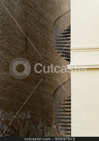 Stair Detail stock photo, Architecture abstract detail by Tyler Olson