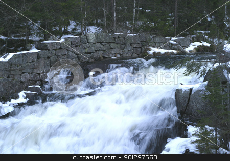 Water Rapids stock photo, water fall in early spring by Tyler Olson
