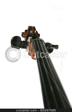 Cello stock photo, An abstract image of a cello scroll by Tyler Olson