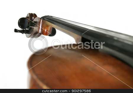 Cello stock photo, A cello isolated on white by Tyler Olson