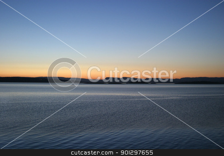 Oslo Fjord Sunset stock photo, Oslo fjord in the evening by Tyler Olson