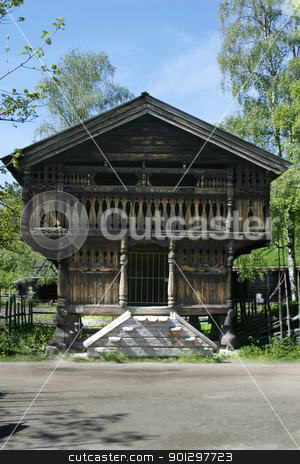 Stabbur stock photo, A grainery, or stabbur at the folk museum in Oslo, Norway by Tyler Olson