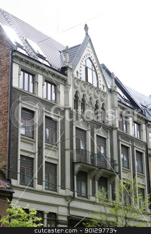 Architecture Detail stock photo, Architecture detail in Oslo, Norway by Tyler Olson