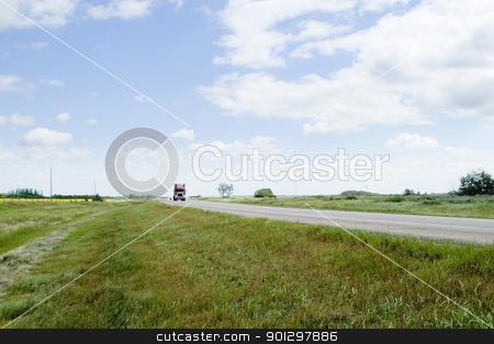 Prairie Highway stock photo, Highway on the prairies by Tyler Olson